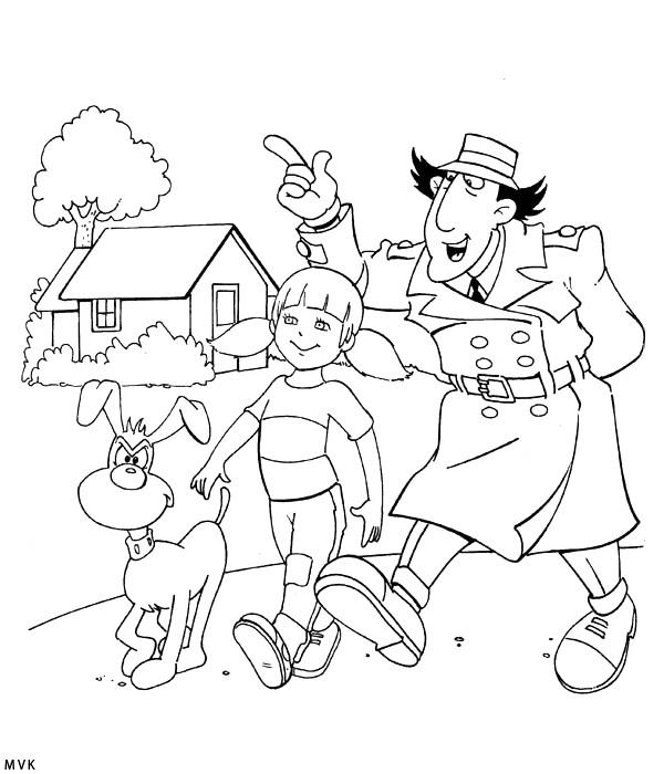 Coloriage et dessins gratuits Inspecteur Gadget entrain de parler à imprimer