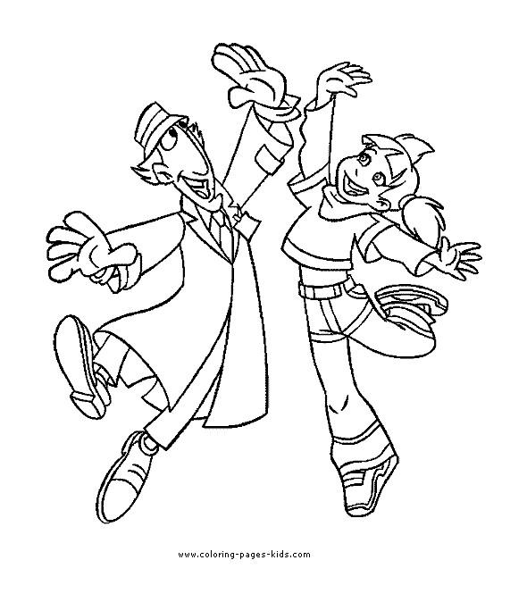 Coloriage et dessins gratuits Inspecteur Gadget et Sophie en ligne à imprimer