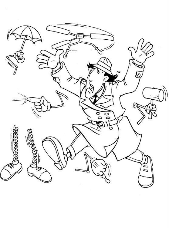 Coloriage et dessins gratuits Inspecteur Gadget pressé à imprimer
