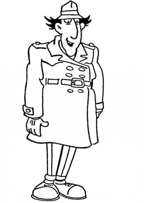 Coloriage et dessins gratuits Inspecteur Gadget sourit à imprimer