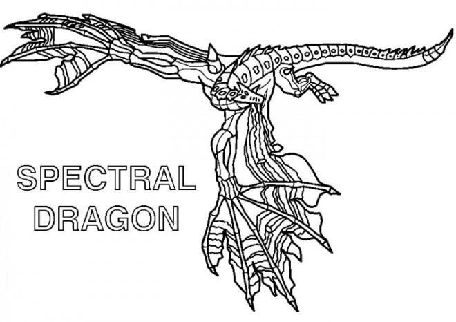 Coloriage et dessins gratuits Dessin Invizimals Dragon à imprimer