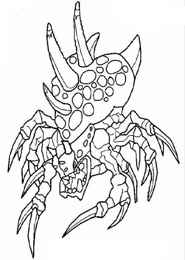 Coloriage Invizimals Crabe Dessin Gratuit A Imprimer