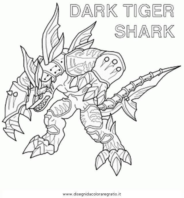 Coloriage et dessins gratuits Invizimals Dark Tiger Shark à imprimer