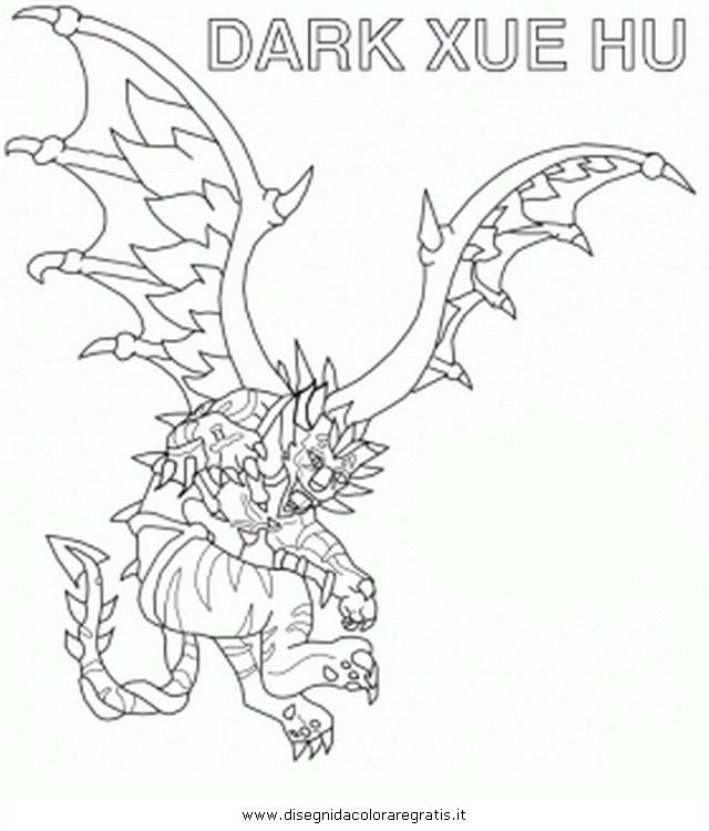 Coloriage et dessins gratuits Invizimals Dark Xue Hu dessin à imprimer