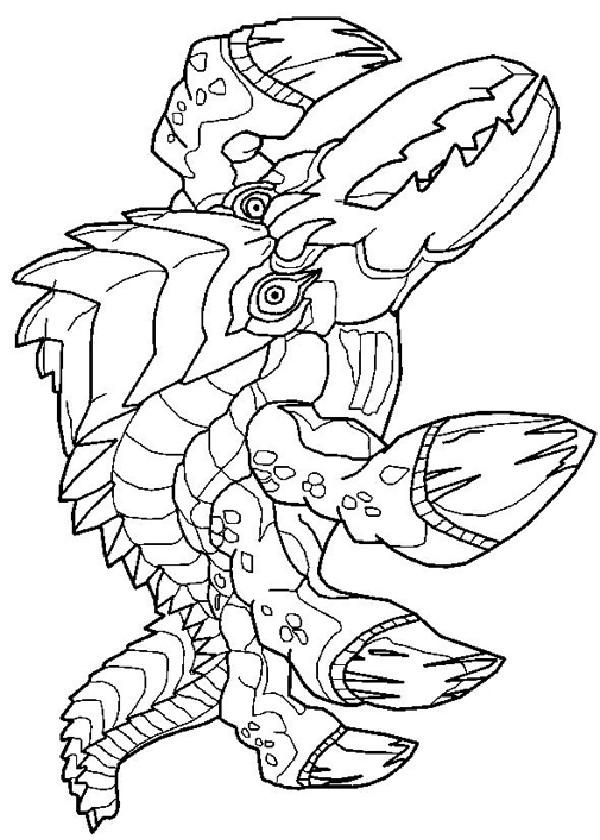 Coloriage et dessins gratuits Invizimals dragon à imprimer