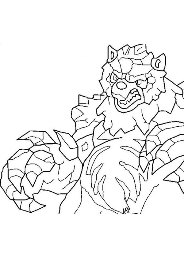 Coloriage et dessins gratuits Invizimals Dragon dessin à imprimer