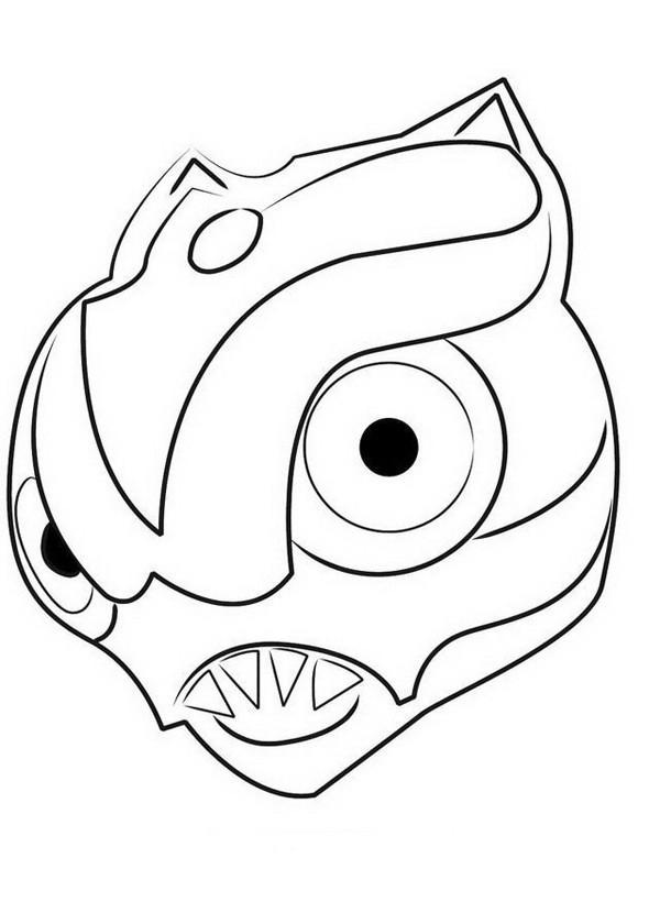 Coloriage et dessins gratuits Invizimals Dragon tête à imprimer