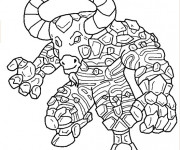Coloriage Invizimals Minotaur en ligne