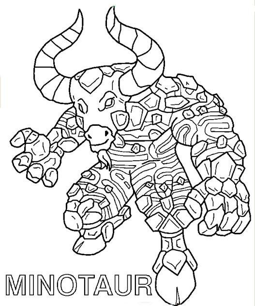 Coloriage et dessins gratuits Invizimals Minotaur en ligne à imprimer