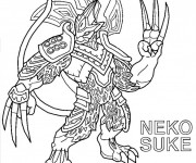 Coloriage Invizimals Neko Suke