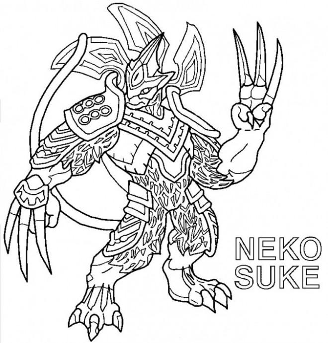 Coloriage et dessins gratuits Invizimals Neko Suke à imprimer