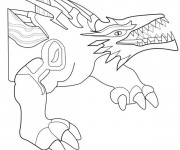 Coloriage Invizimals Rock Dragon en ligne