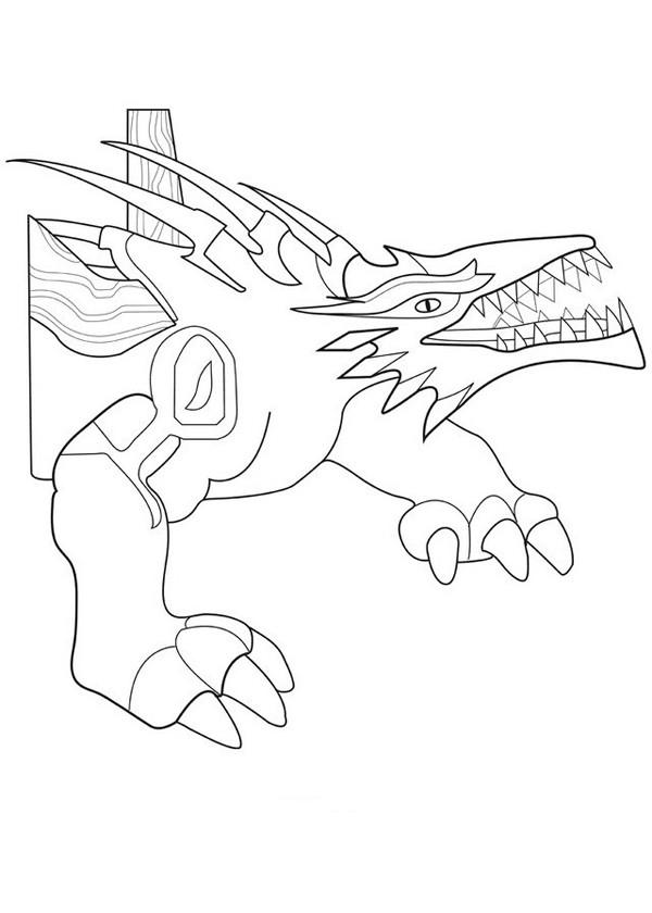 Coloriage et dessins gratuits Invizimals Rock Dragon en ligne à imprimer