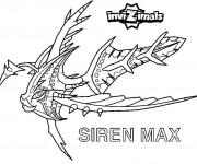 Coloriage Invizimals Siren Max