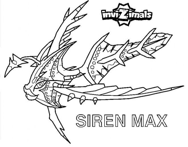 Coloriage et dessins gratuits Invizimals Siren Max à imprimer