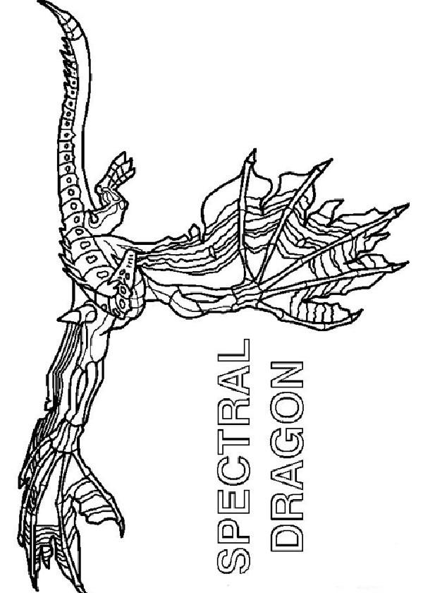 Coloriage et dessins gratuits Invizimals Spectral Dragon à imprimer