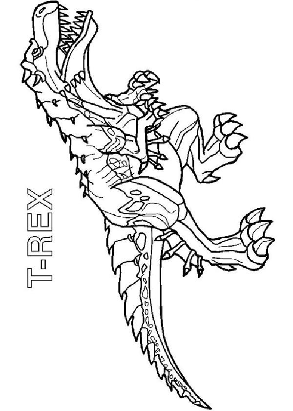 Coloriage Invizimals T Rex Dessin Animé Dessin Gratuit à Imprimer