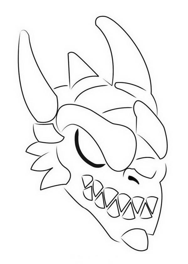 Coloriage et dessins gratuits Invizimals tête Star Dragon à imprimer
