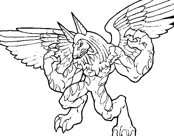Coloriage et dessins gratuits Invizimals Uberjackal Dragon à imprimer