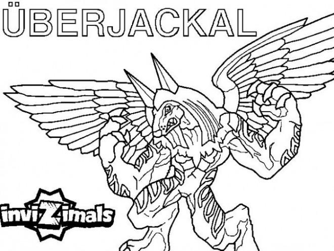 Coloriage et dessins gratuits Invizimals Uberjackal Dragon facile à imprimer