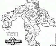 Coloriage Invizimals Yeti Dragon