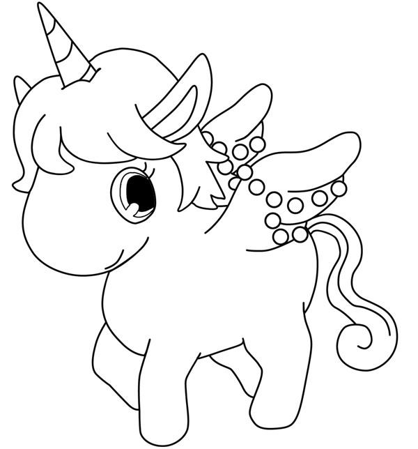 Coloriage jewelpet licorne dessin gratuit imprimer - Coloriage a decalquer ...