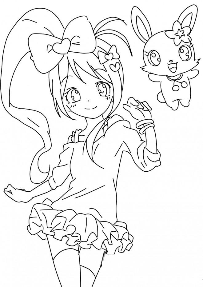 Coloriage jewelpet imprimer gratuit dessin gratuit imprimer - Image de dessin anime gratuit ...