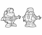 Coloriage BB Boy et fusil dessin animé