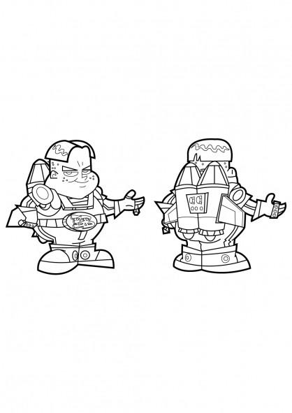 Coloriage et dessins gratuits BB Boy et fusil dessin animé à imprimer