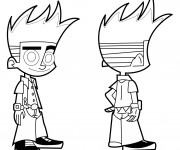 Coloriage et dessins gratuit Image Johnny Test Disney à imprimer
