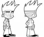 Coloriage dessin  Johnny Test 16
