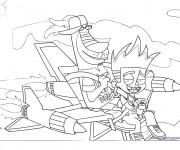 Coloriage dessin  Johnny Test 9