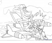 Coloriage Johnny Test et Dukey