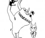 Coloriage Johnny Test le monstre et l'héro