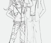 Coloriage Kilari et Hiroto