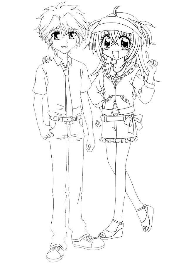 Coloriage et dessins gratuits Kilari et Hiroto en ligne à imprimer