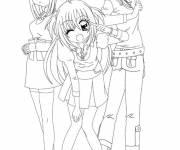 Coloriage Kilari  et ses meilleures amis