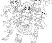 Coloriage Manga de Kilari à imprimer