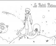 Coloriage et dessins gratuit Dessin saint exupery Le petit prince à imprimer