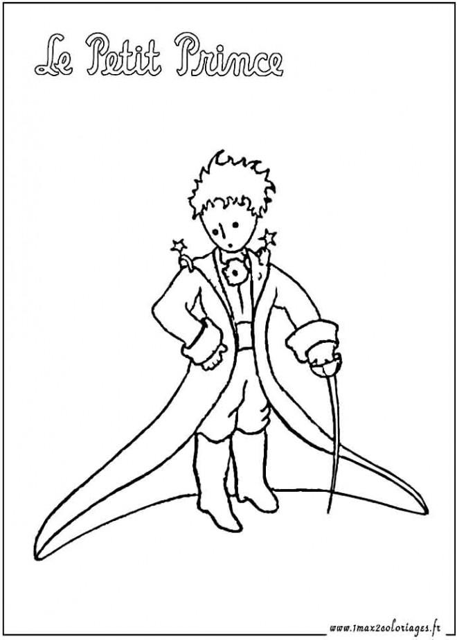 coloriage le petit prince gratuit  u00e0 imprimer en ligne