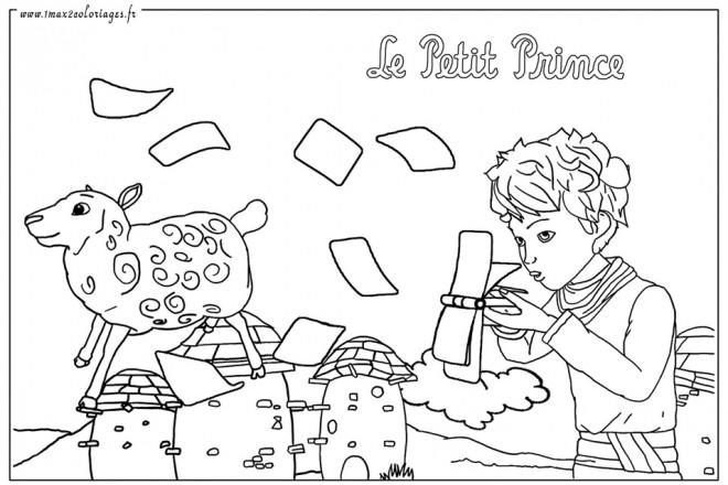 Coloriage et dessins gratuits Le petit prince 8 à imprimer
