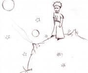 Coloriage et dessins gratuit Le petit prince de saint exupéry à imprimer