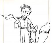 Coloriage et dessins gratuit Le petit prince et le renard à imprimer