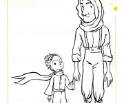 Coloriage et dessins gratuit Le petit prince et le vieux homme à imprimer