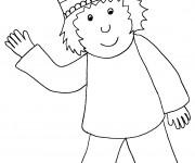 Coloriage et dessins gratuit Le petit prince et sa couronne à imprimer