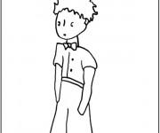 Coloriage et dessins gratuit Le petit prince la main dans les poches à imprimer