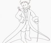 Coloriage et dessins gratuit Le petit prince porte une épée à imprimer