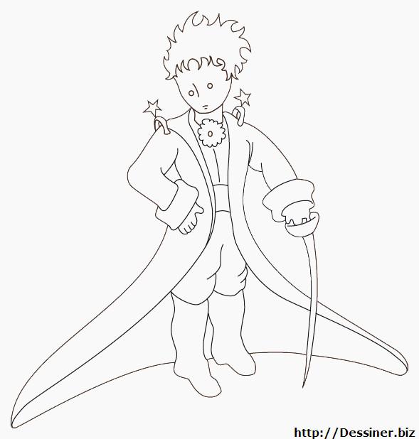 Coloriage et dessins gratuits Le petit prince porte une épée à imprimer