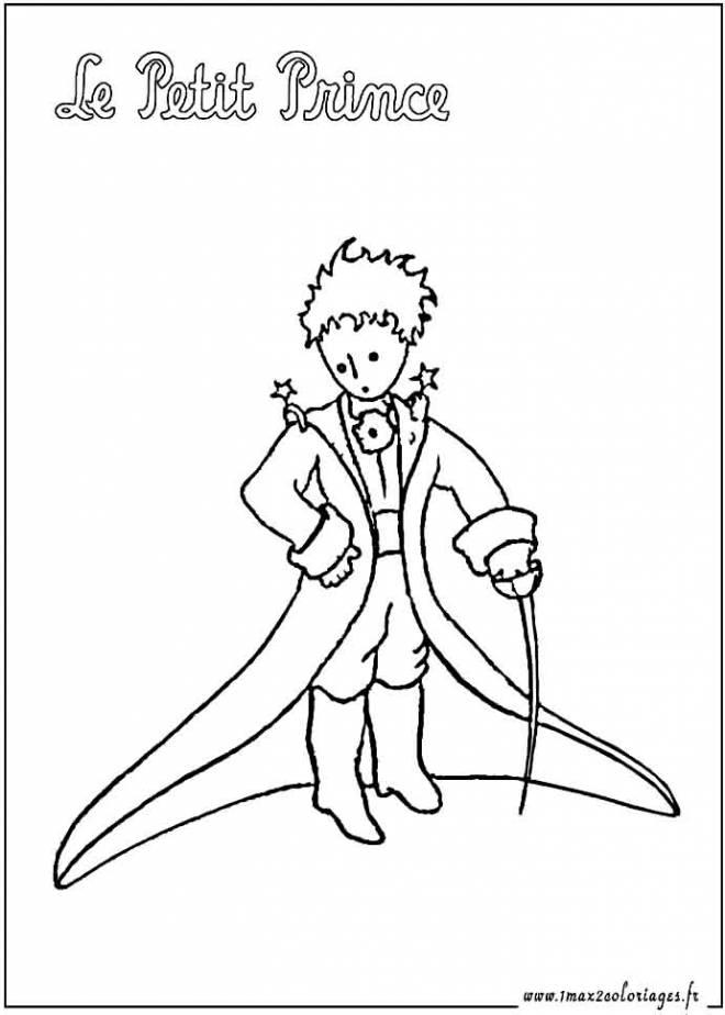 Coloriage et dessins gratuits Le petit prince simple à imprimer