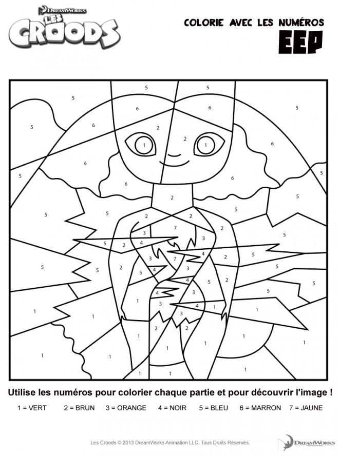 Coloriage et dessins gratuits Dessin Les croods à imprimer